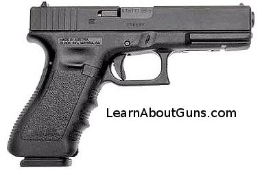 A glock 17, chambered for 9MM
