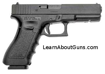 A glock 22, chambered for .40 S&W